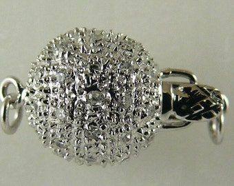 Diamond 0.29ct Pave Clasp 14k White Gold 10.4 MM