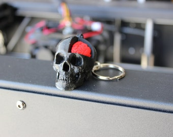 Cut-Away Skull & Brain Key Chain - 3D Printed