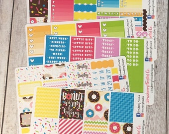 Donut Worry Be Happy---- Weekly Planner Kit ---- {Includes 210+ Stickers}