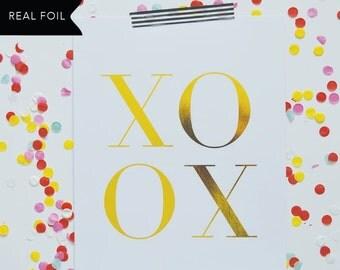 XOXO Gold Foil Print