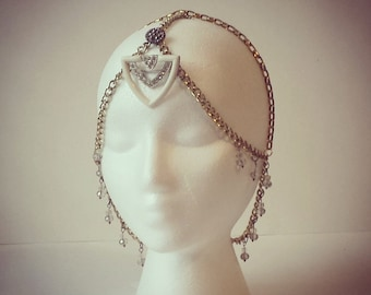The Josephine - chain headdress with vintage components
