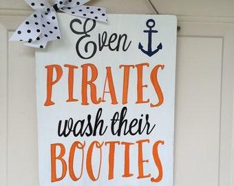 Pirates Bathroom Sign