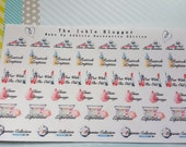 Makeup Addicts Planner Stickers Decorative Edition