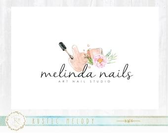 Nail polish logo beauty logo premade logo nail artistry logo nail art logo beauty logo design floral logo cosmetic logo watercolor logo prinsesfo Choice Image