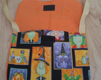 Halloween print with witches, pumpkins and potions  bag / purse