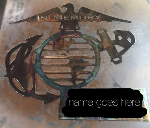 In Memory Of Marines Military Metal Wall Art Decor By