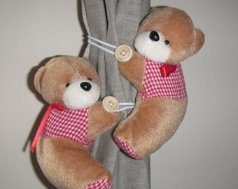The Bears -  Holder Window drapes for children's room, Holder Window drapes, children's room decoration, Curtain accessory