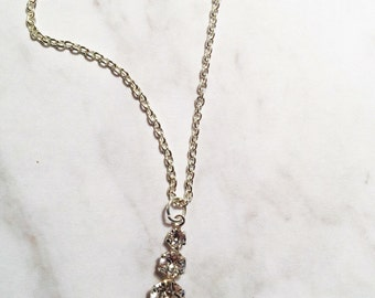Past present and Future Swarovski crystal Necklace