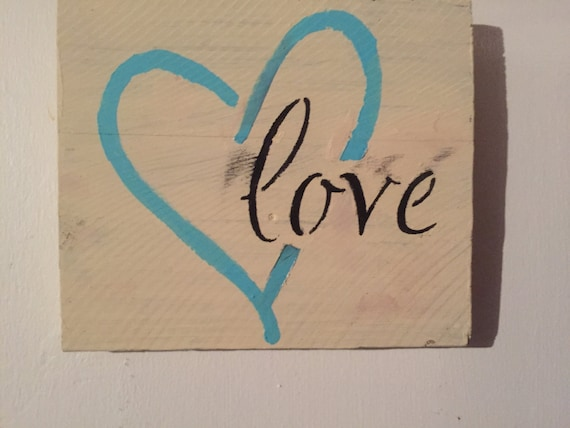 LOVE SIGN Wood Shabby Chic Sign Love Signs Love Heart