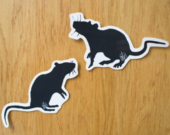Black or Galaxy Rats Vinyl 2 Sticker Pack