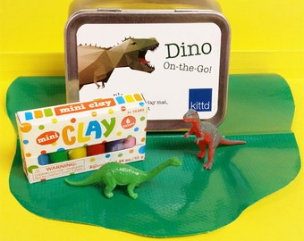 Dino On-the-Go Travel Play Set Tin