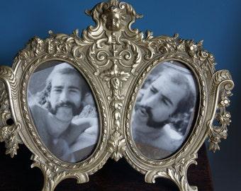 Ornate French Bronze Frame Antique frame Marked