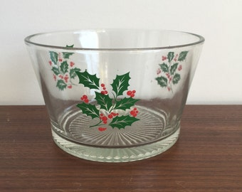 Christmas Holly Serving Bowl
