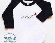 First Birthday Shirt Airplane Baby Boy/Girl - One Birthday Raglan tshirt - Toddler 1st Bday Tee Airplane Boy/Girl - 1 Plane Birthday Trendy