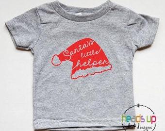 Santa's Little Helper Shirt - Christmas Shirt Toddler Boy/Girl - Baby Bodysuit Christmas - Santa's Little Helper Christmas Tee - Gift - PJ