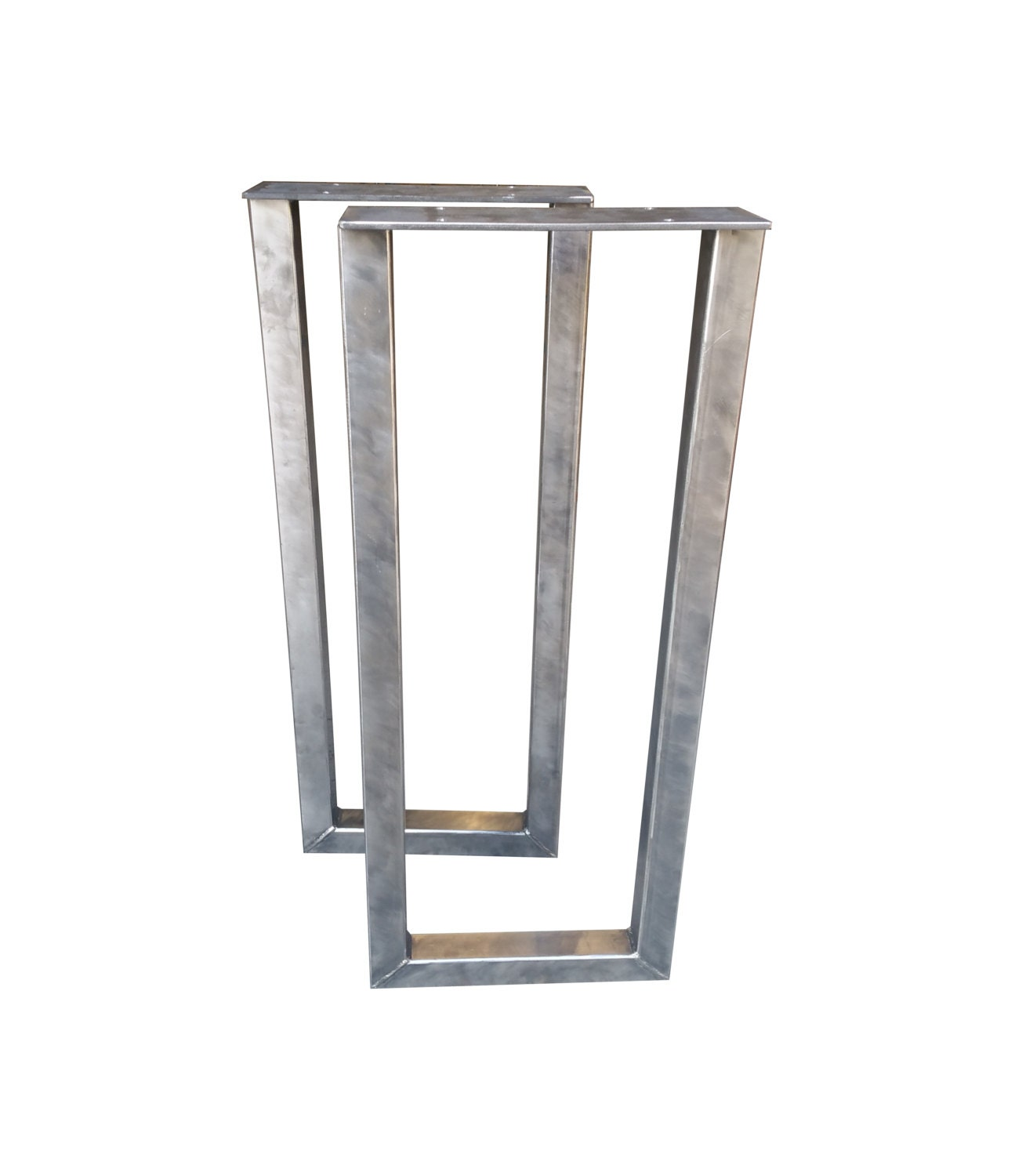 Metal rectangle table legs 2x2 square tubing console table for Square iron table legs
