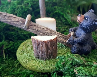Miniature Bear Cub on a See Saw