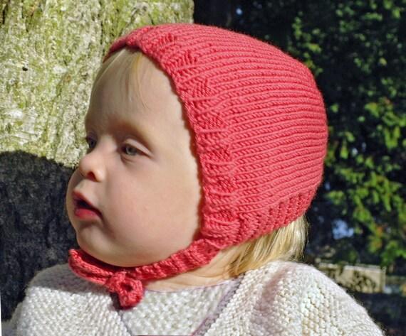 Easy baby bonnet knitting pattern / Vintage baby bonnet