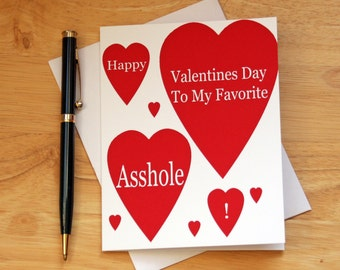 Naughty Valentines, Dirty Card, Valentines Card, Sarcastic Card, Card For  Him,