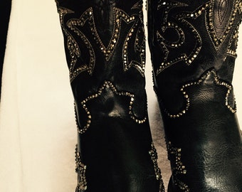Swarovski Crystal cowboy boots