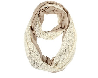 Lace Overlay Infinity Scarf