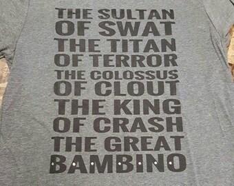 Baseball tshirt, The Great Bambino