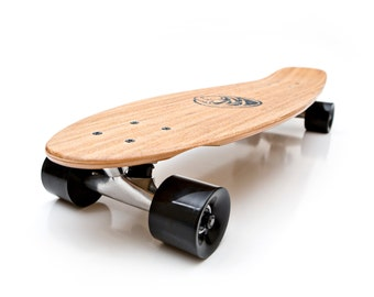 White Wave Bamboo Missile Longboard
