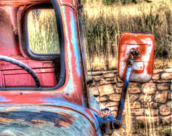 Colors of an Old Truck #3: Still life art photography prints for home or office wall decor.