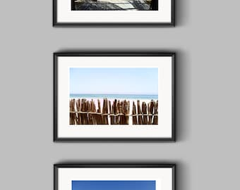 INSTANT DOWNLOAD Beach Decor, Beachy Wall Decor, Summer Photography 5x7, Beach Postcard Set, Photography Notecard Set, 3 Nature Photo Cards