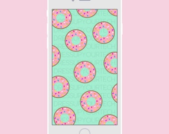 Donuts Phone Wallpaper