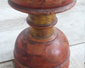 Chippy and Primitive painted wood architectural salvage folk art finial thingy
