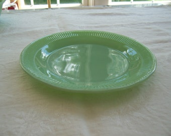 "Vintage Anchor Hocking Fire King Jane Ray Jadeite Dinner Plate - 9 1/8"" Diameter"