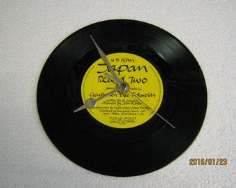 "Japan - ""Gentlemen Take Polaroids"" Vinyl Record Wall Clock"