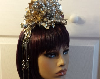 Princess of Silver and Gold Headband Headdress