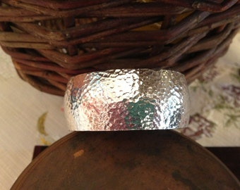 Hammered Pewter Cuff