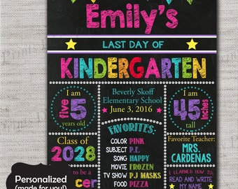 Last Day of School Sign,Last Day of School Chalkboard Printable Sign,Any Size ANY GRADE,Personalized Last day of School Sign,Pink