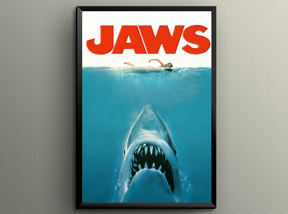 JAWS 1975 Movie Poster Giclée Printed 24 x 36 or 18 by ...