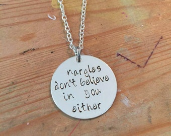 Nargles Dont Believe In You Either Necklace Bangle Keychain Harry Potter Inspired Luna Lovegood