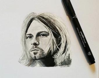 Kurt Cobain Portrait painting