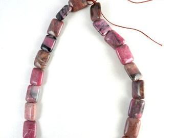Larimar Jasper Rectangle Gemstone Beads 1 strand 25 PCs Size 16x13mm Hole Size 1mm Natural, healing, chakra, birthstone for Jewelry Making