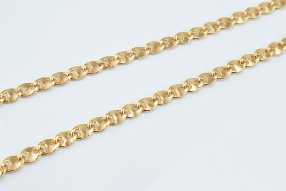 18k Gold Filled Chain 17 Inch Square Cg99