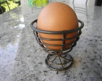Handmade collectible, old metal egg