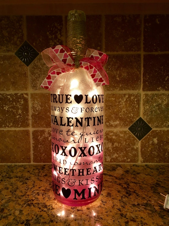 Valentines Day Lighted Bottles Valentine's Day Wikii Gorgeous Decorated Wine Bottles With Lights Inside