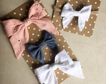 Large Sailor Bow- Multiple Colors!