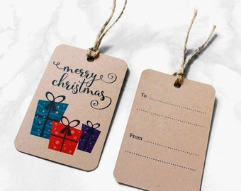 SALE 20% off - Merry Christmas Gift Tags - Pack of 6