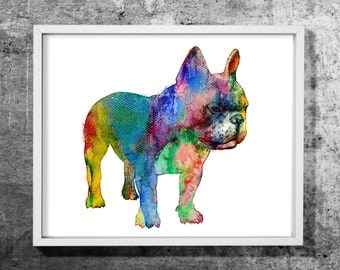 French bulldog 05 design  watercolor art print, Watercolor painting, Dog, Animal, Decorative dog art, Colorful wall decor, INSTANT DOWNLOAD