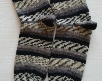 Hand knitted Socks Size 10-11