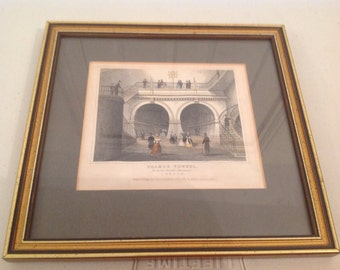 London- Victorian Art-Thames Tunnel from the Circular Staircase 1840