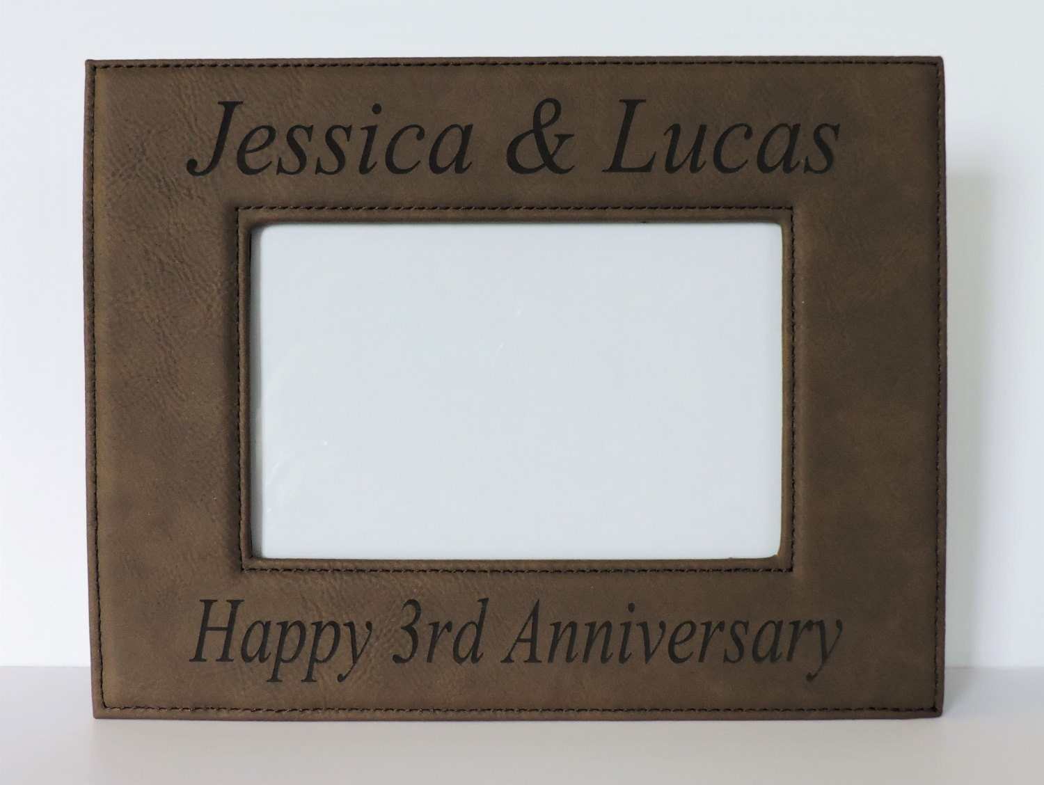 3rd Wedding Anniversary Leather Gifts: 3rd Anniversary Leather Gift Leather Photo Frame For