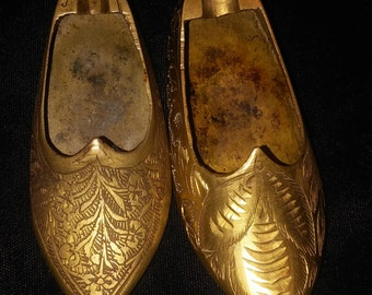 Brass Slipper/Shoe Personal Ashtrays